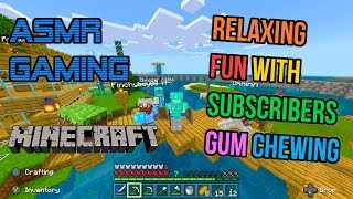 ASMR Gaming 💎 Minecraft Relaxing Subscriber Fun Gum Chewing 🎮🎧 Controller Sounds + Whispering 😴💤