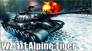 WZ-111 Alpine Tiger бой на китайском прем танке World of Tanks 🌟 Альпийский тигр