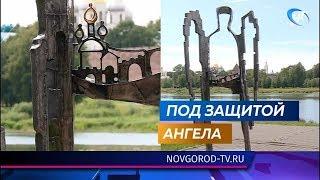 Скульптура боевого ангела появилась на набережной Александра Невского