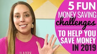 5 Money Savings challenges to help you save money in 2019 // How to save money FAST!