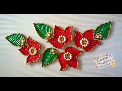 beautiful flower kundan rangoli design by poonam borkar