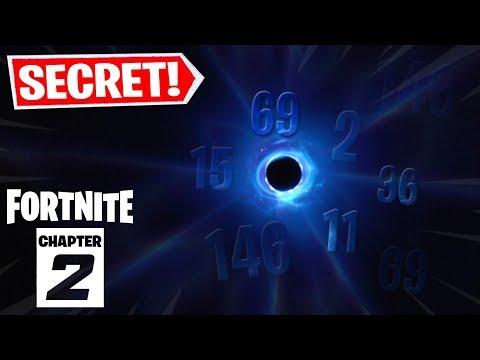 LE SECRET DU TROU NOIR SUR FORTNITE RESOLU ! (SECRET CHAPITRE 2)