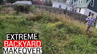 Extremely Overgrown Property Cleanup [Cutting Tall Grass from Start to Finish]