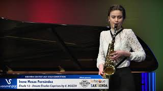 Irene Mesas Fernández plays Étude 12 – Douze Études Caprices by Eugène BOZZA