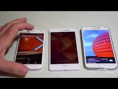 Motorola Moto X vs Huawei Ascend P7 vs Samsung Galaxy S5