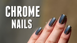 Chrome Mirror Nails & Born Pretty Store Chrome Mirror Powder Review || caramellogram