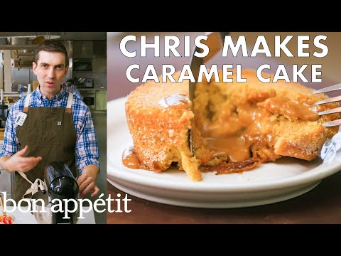 Download Chris Makes Molten Caramel Cake | From the Test Kitchen | Bon Appétit HD Mp4 3GP Video and MP3