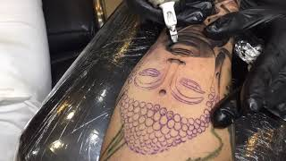 Buddha Tattoo - Timelapse - By Thai Tattoo Studio Shop Pattaya Ttatt2s
