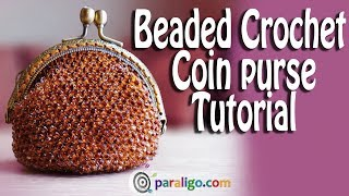 Crochet Tutorial Beaded Coin Purse