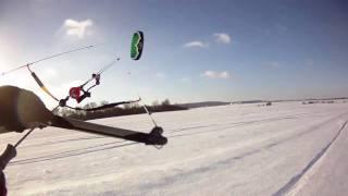 preview picture of video 'Snowkite - Fontenay Le Fleury - Dec 25th 2010'