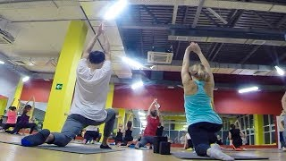 Как мы первый раз в жизни пошли на йогу 🧘♂️