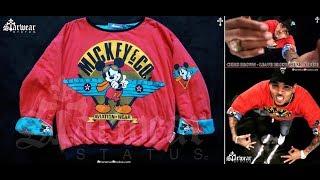 Chris Brown Personal Wardrobe Mickey Mouse Walt Disney Sweater (Leave Broke Music Video)