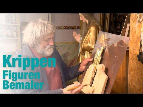 Krippenfiguren zum Leben erwecken - Malerkünstler Rudi Ranzinger bemalt Krippenfiguren