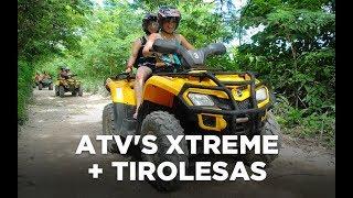 Book now! Cancun ATV's Xtreme + Ziplines at Aventuras Mayas