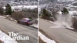 Ott Tanak walks away after dramatic crash in Monte Carlo Rally