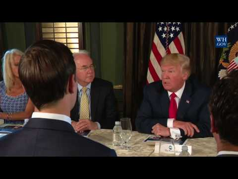 President Trump Participates in a Briefing on the Opioid Crisis with Secretary of HHS Tom Price