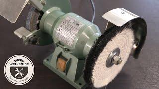 Doppelschleifer Umbau zur Polierstation mit Edelstahl Spritzschutz in Handarbeit