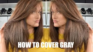 HOW TO COLOR STUBBORN GRAY HAIR | Professional Results At Home