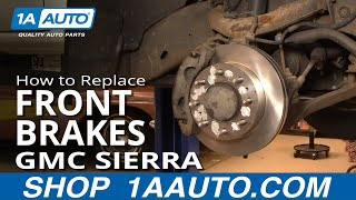 How To Replace Front Brakes 01 04 GMC Sierra 2500HD