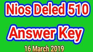 Nios Deled 510  Answer key || Nios Deled 510 c objective Answer key