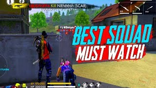 Best Ranked Squad Match Gameplay - Garena Free Fire