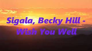Sigala, Becky Hill   Wish You Well (1 HOUR)