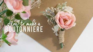 DIY Basic Boutonniere | Super Simple!