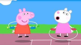 Свинка Пеппа на русском все серии подряд | Прыгалки и счеты | Мультики