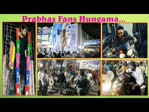 Prabhas Fans Hungama At Theaters | Saaho Fans Hungama | Vizagvision....