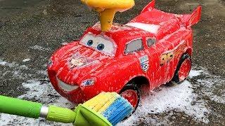 Monster Lightning mcqueen Car Wash Play Car toy videos for kids   Играем в тачки