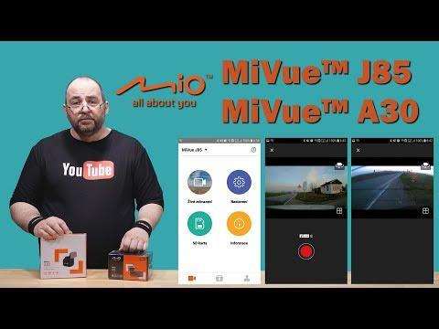 Mio MiVue J85 + Mio MiVue A30 ~ Recenze přední a zadní kamery do auta ~ Česky ⁴ᴷ #MIOkamery