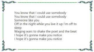 Bat for Lashes - Use Somebody lo Fi Version Lyrics