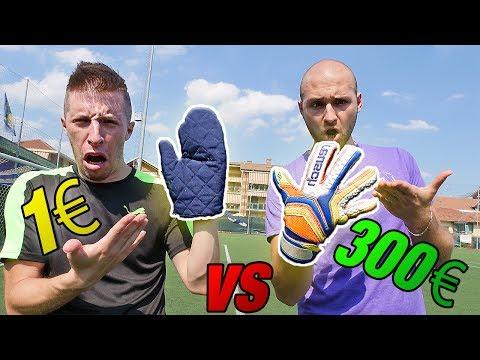 1€ Guanto CUCINA Vs 300€ Guanto PORTIERE - Goalkeeper TEST