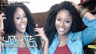 1 WEEK UPDATE ISLAND TWIST CROCHET BRAIDS
