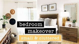 Extreme SMALL Bedroom Makeover Part 2 // California Coastal Chic Decor  | XO, MaCenna