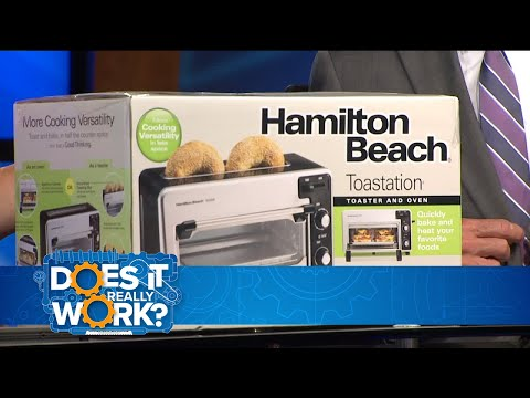 , Hamilton Beach 2-in-1 Countertop Oven and 2-Slice Toaster, Stainless Steel (31156)