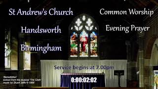 St Andrew's Common Worship Evening Prayer – Wednesday 7th July 2021 – 7.00pm