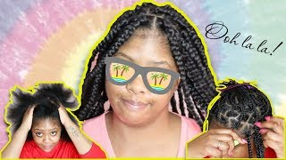 30 inch Individual Crochet Box Braids (Start To Finish) | No Cornrows | No Rubberbands