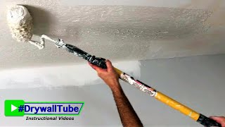 How To Skim Coat Your Ugly Ceiling With a PAINT ROLLER!