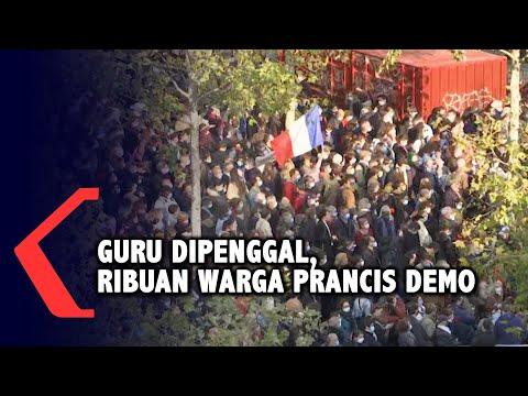 guru dipenggal ribuan warga prancis demo