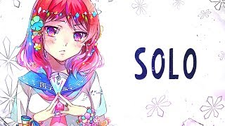 Nightcore   SOLO   (Lyrics)