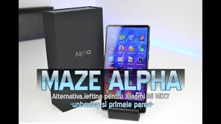 Maze APLHA (bezel less) unboxing in limba romana si primele pareri!