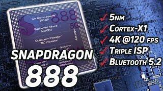 Snapdragon 888: 5nm, Cortex-X1, Adreno 660, 4K HDR, Bluetooth 5.2, and more!