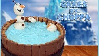 OLAF Kit-Kat Cake | Disneys FROZEN (How To)