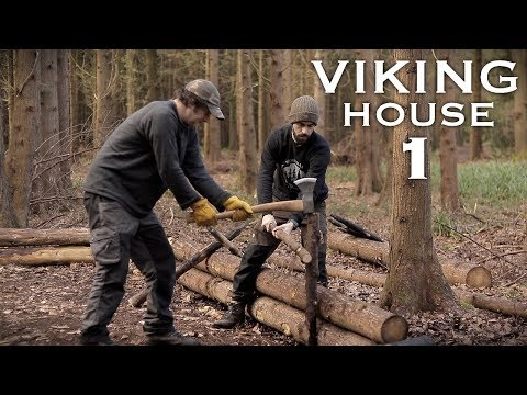 Building a Viking House with Hand Tools: A Bushcraft Project (PART 1)