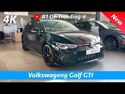 VW Golf 8 GTI 2021 - FIRST look in 4K | Exterior - Interior (Deep Black Perleffect)