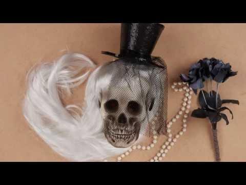 Idées déco Halloween : le faux crâne customisé