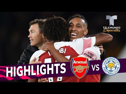 Arsenal vs. Leicester City: 3-1 Goals & Highlights   Premier League   Telemundo Deportes