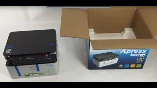 Unboxing Inbetriebnahme Samsung SL-M2070W 3-in-1Laser Multfunktionsgerät (WLAN, USB) Scanner Drucker