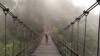 preview picture of video 'Barbotay Hanging Bridge, Takdah, Darjeeling ...'